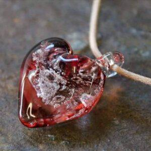 Ashanger glas rood hart