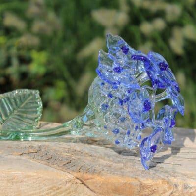 Glazen Hortensia bloem