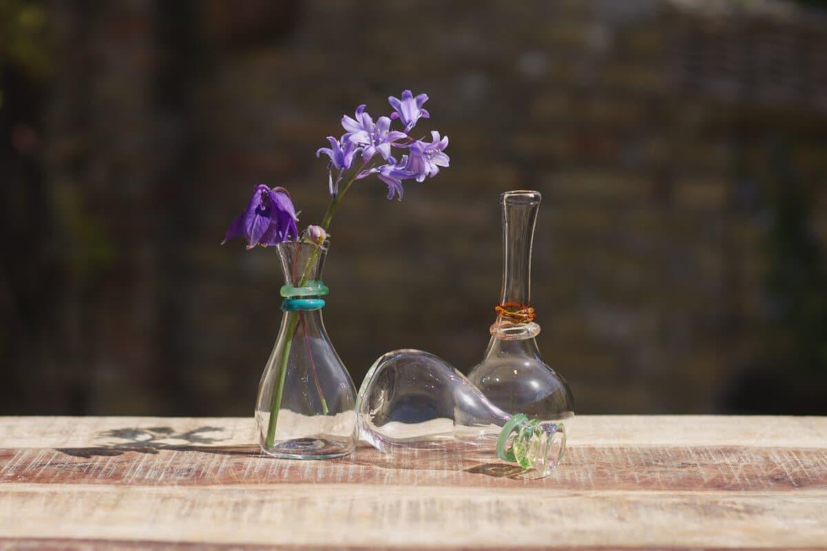 Mondgeblazen glazen vaasjes Varia