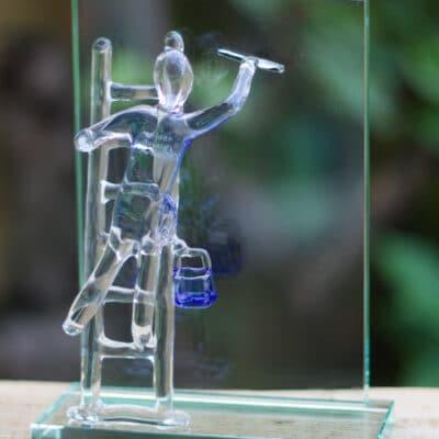 Glazen Glazenwasser - Buwalda Multiservice Franeker 40 jaar