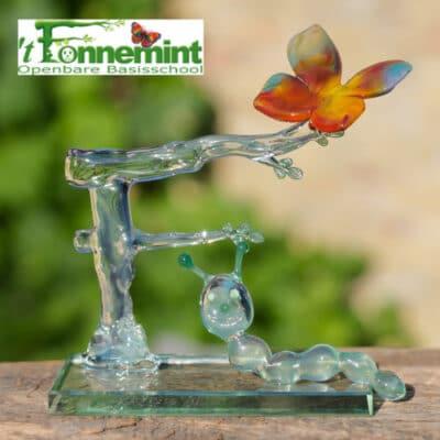 Glassculptuur It Fonnemint vlinder