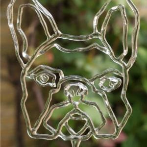Glaskunst Franse Bulldog