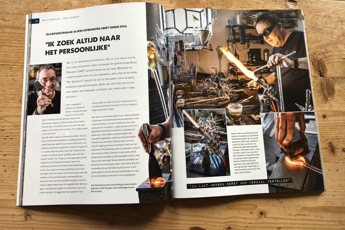 Boek Man en Werkplaats - Portret Glasblazer Glaskunstenaar Alwin Overwater
