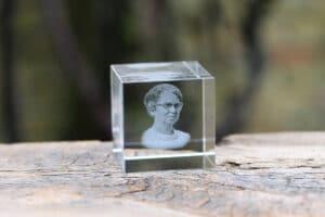Foto in glas - Lasergravure Kristal Kubus 50x50x50 2D