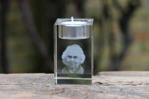 Foto in glas - Lasergravure Kristal Waxine 50x50x80 2D